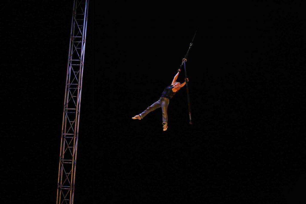 Funky Fi Michaela Flying Pole Western Australian Circus Festival