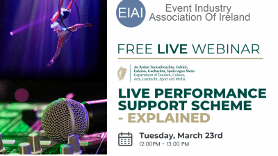 Event Industry Association Of Ireland Support Scheme Webinar