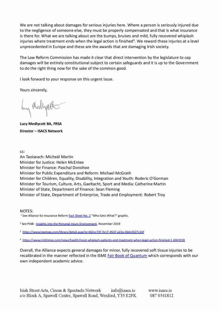 Letter To An Tanaiste Leo Varadkar 06.03.2021 Page 002