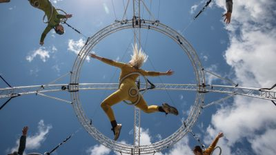 Fidget Feet Aerial Dance. Image Credit Ste Murray